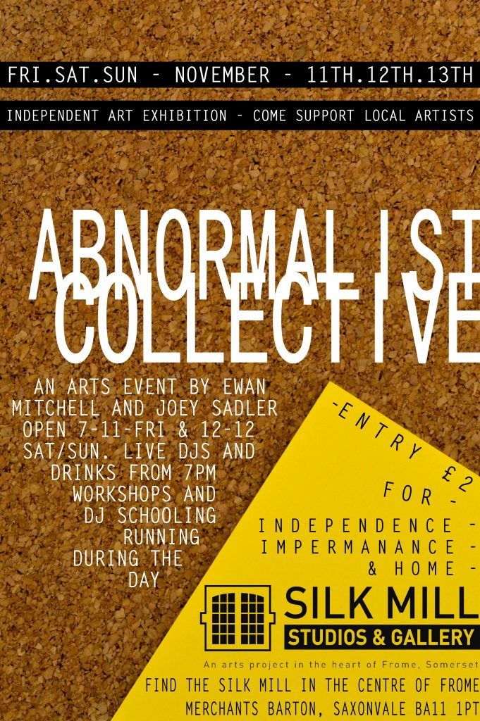 Poster for abnormalist collective show