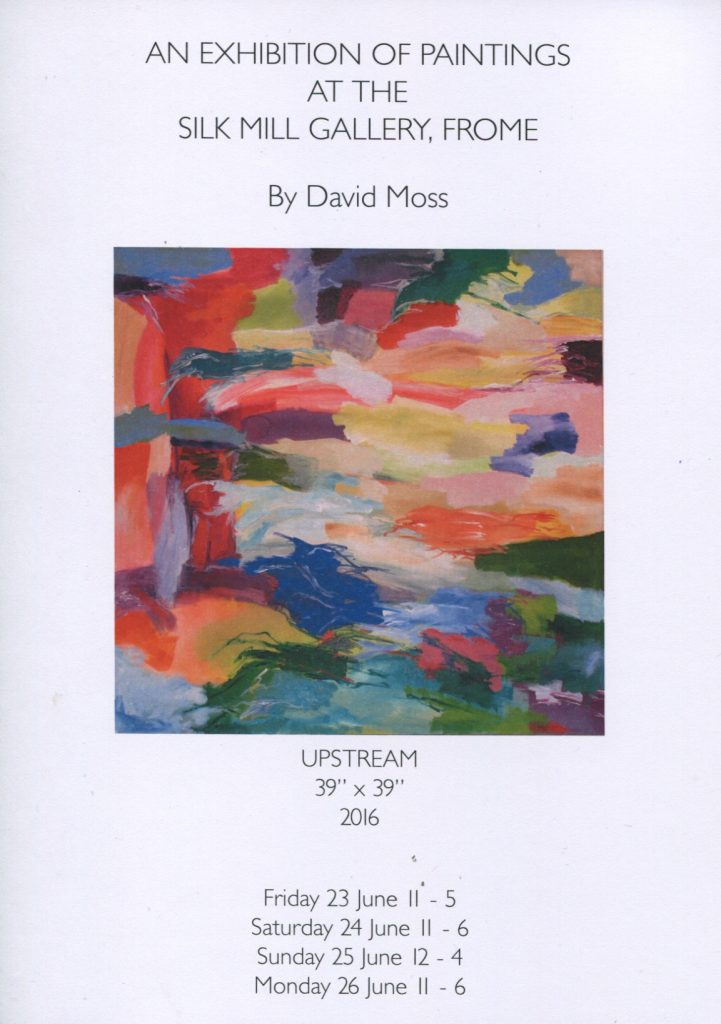 Exhibition of paintings by david moss silk mill studios gallery exhibition of paintings by david moss stopboris Images
