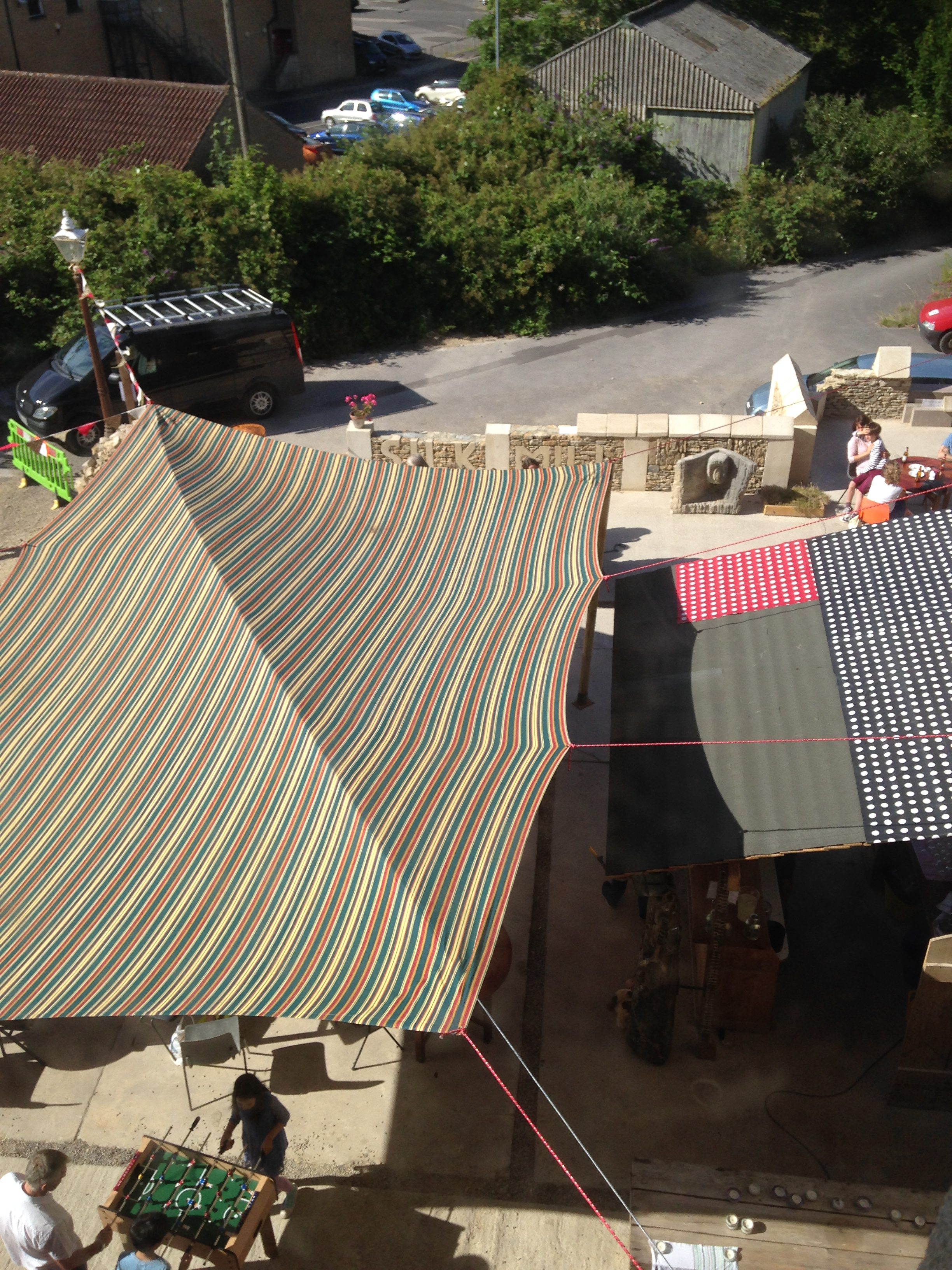 Cantina awning from above