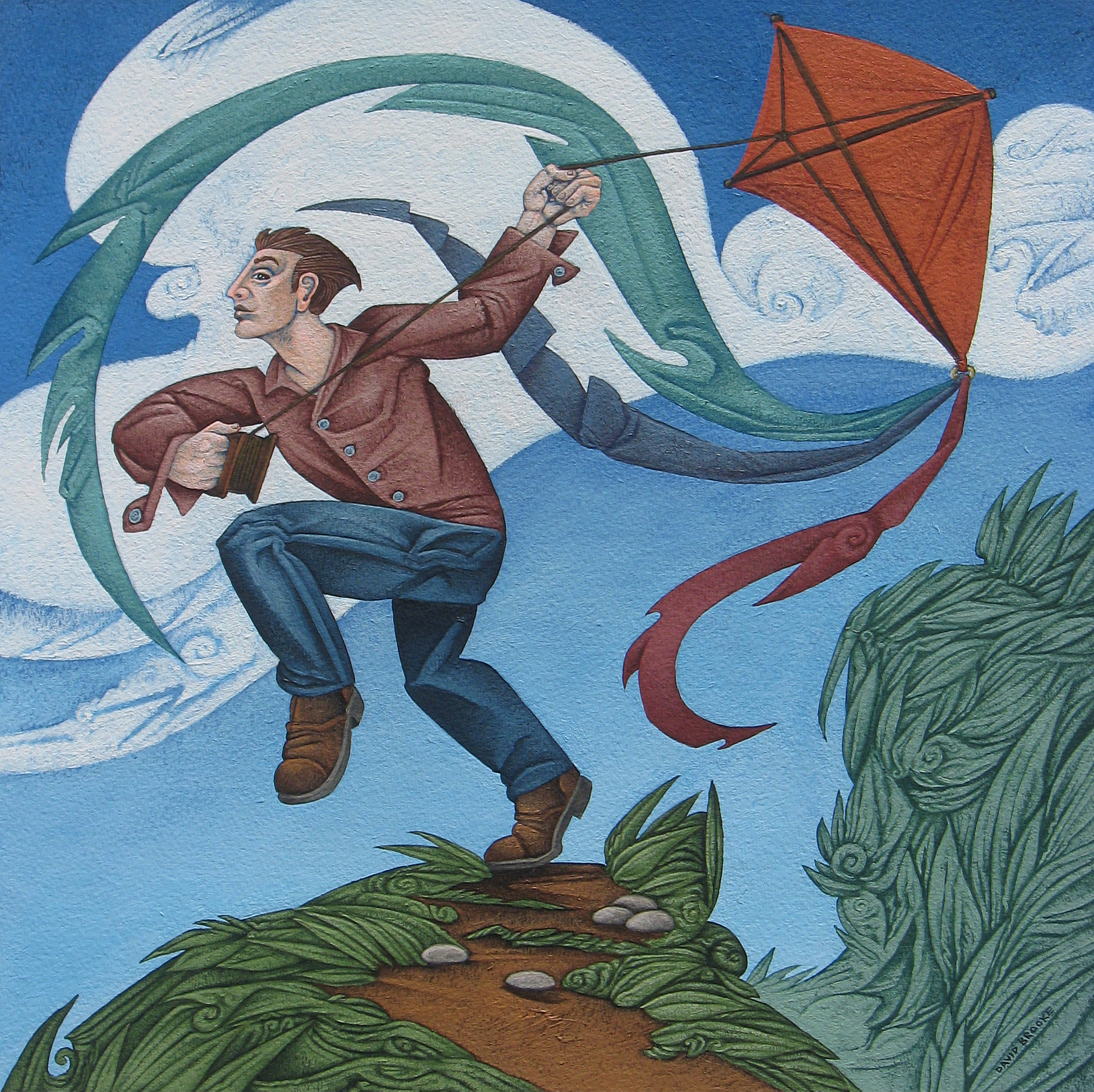 Kite Flying 5 by David Brooke