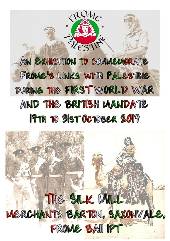 Frome Palestine exhibition poster
