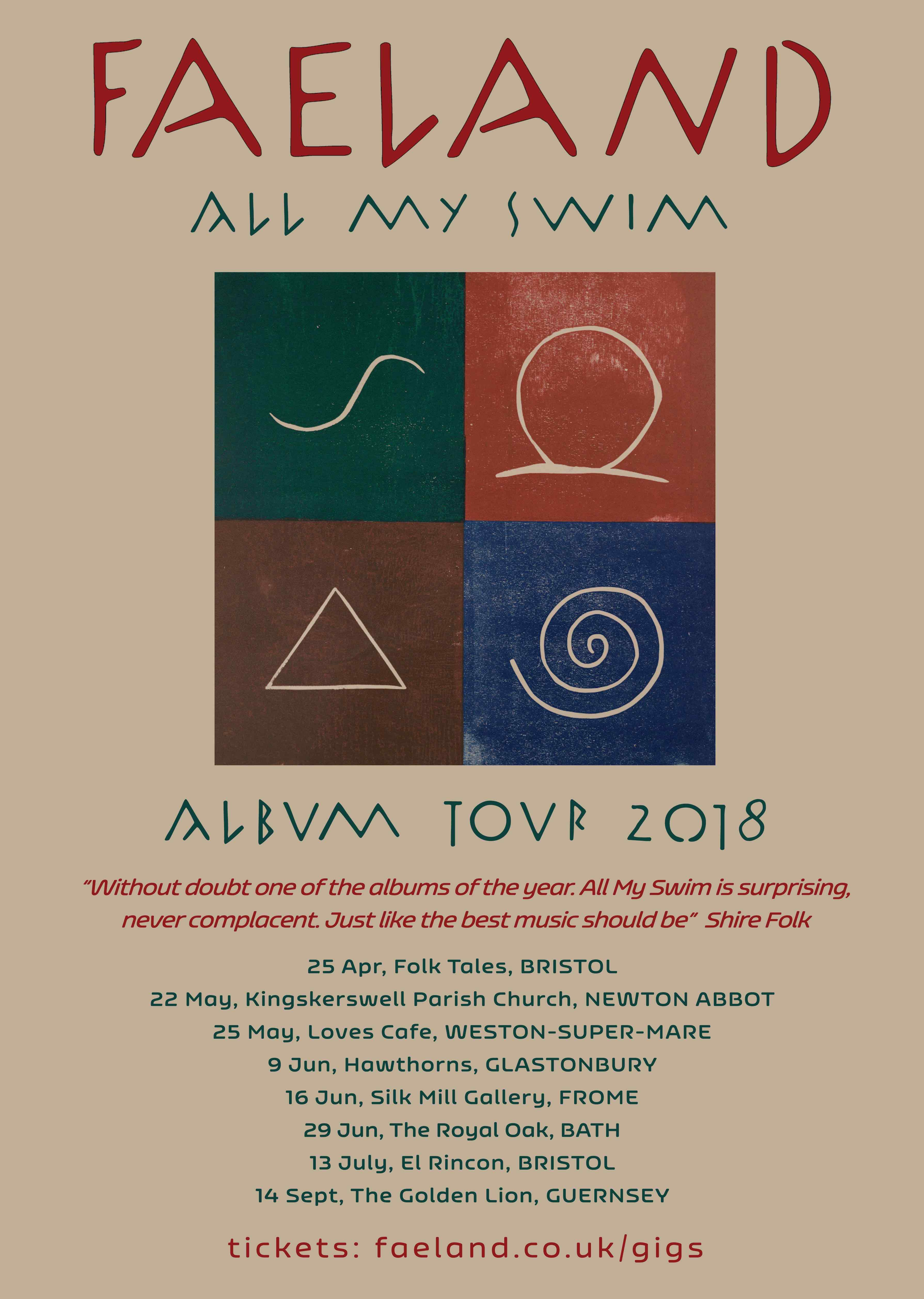 Faeland Tour poster
