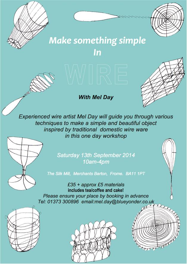 Wire Sculpture Workshop, September 13th • Silk Mill Studios & Gallery