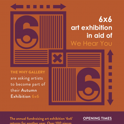 WHY 6X6 charity exhibition poster