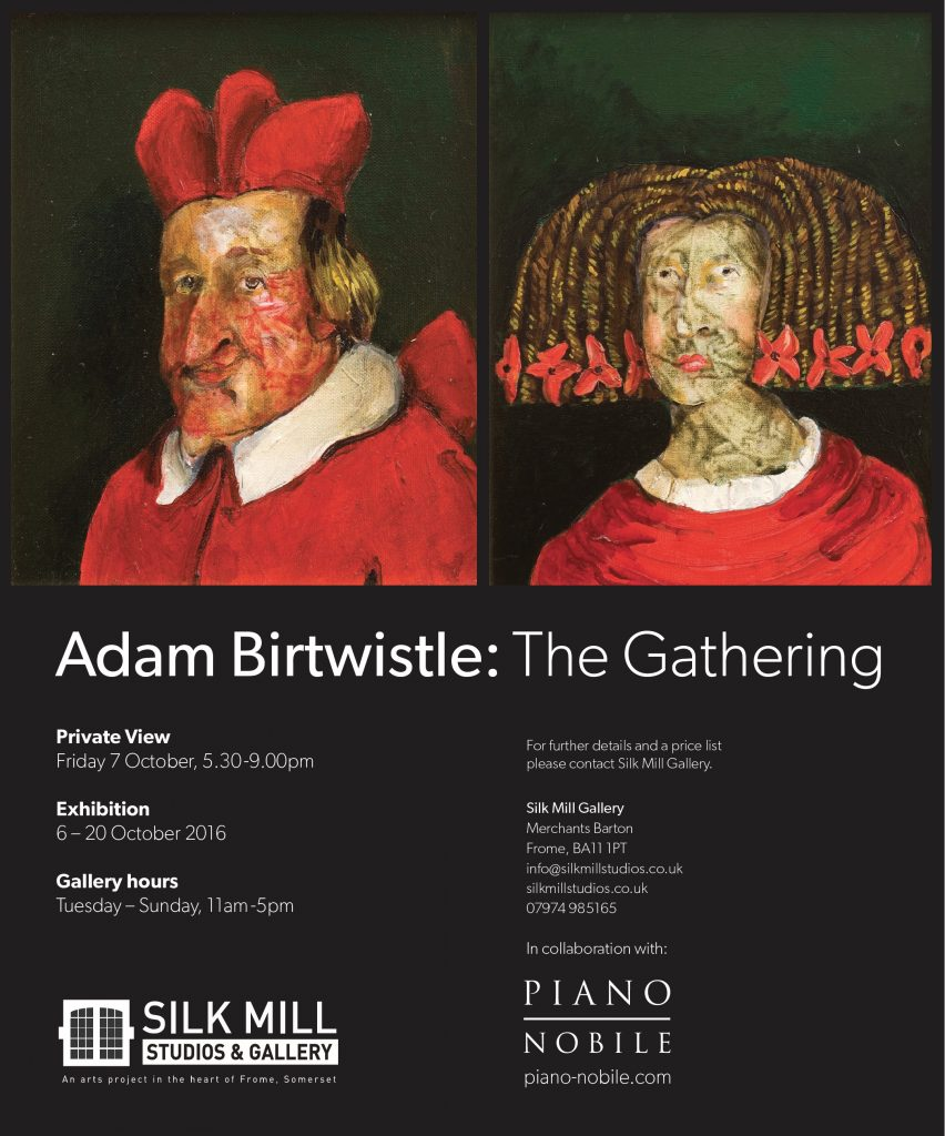 Poster for Exhibition of paintings by Adam Birtwistle