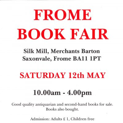 Frome Book Fair Poster